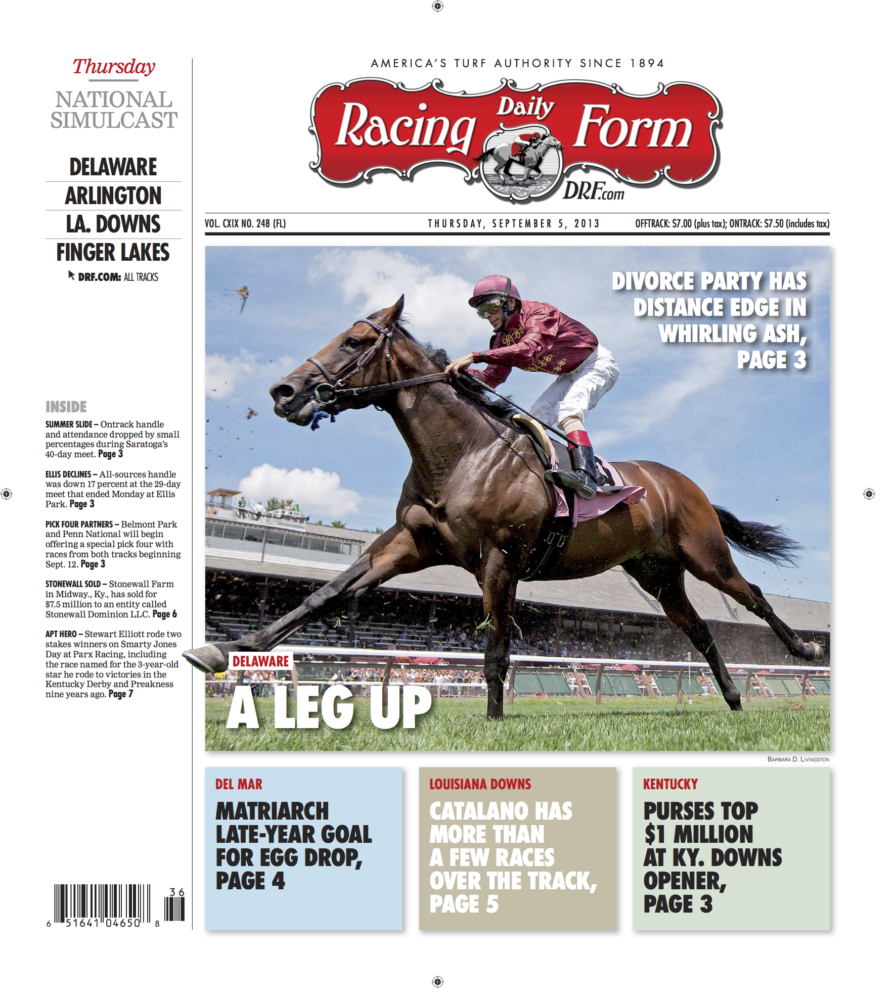 Daily Racing Form Editorial – JOSEPH CONTI