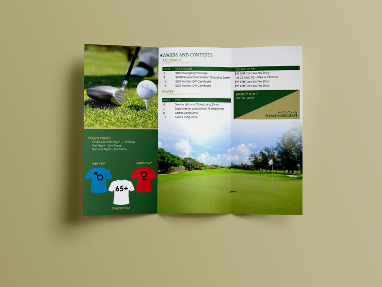 Credit Union Charity Golf Tournament Program Inside