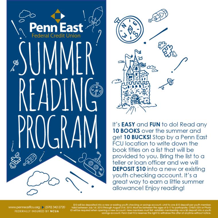Penn East Summer Reading Facebook Post Image