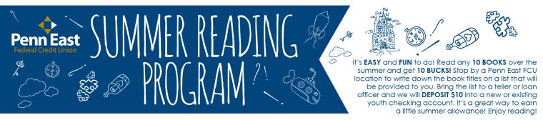 Penn East Summer Reading Homepage Web Slider