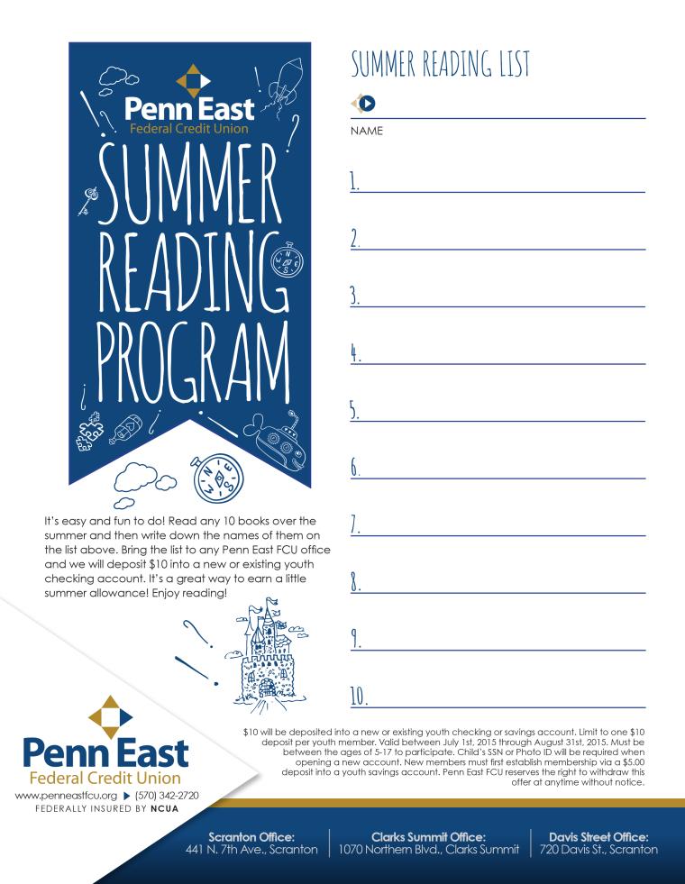 Penn East Summer Reading Program List