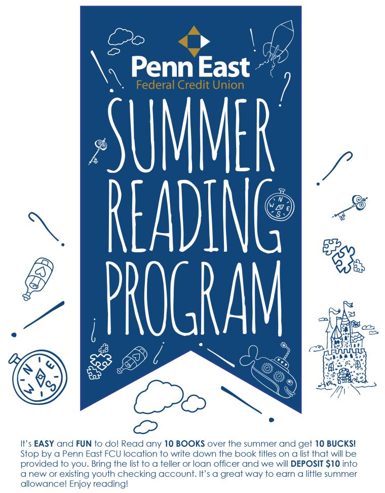 Penn East Summer Reading Program Branch Flyer