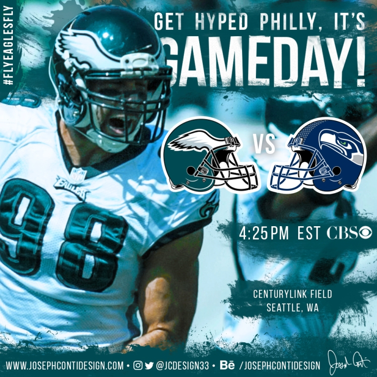 Philadelphia Eagles 2016 Gameday Graphic – Game 10 vs Seahawks