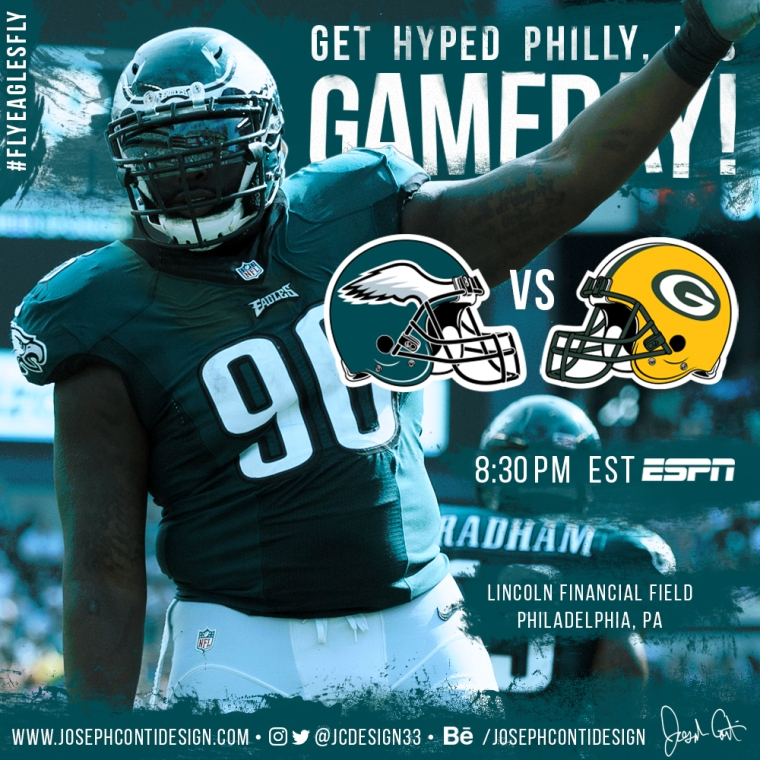 Philadelphia Eagles 2016 Gameday Graphic – Game 11 vs Packers