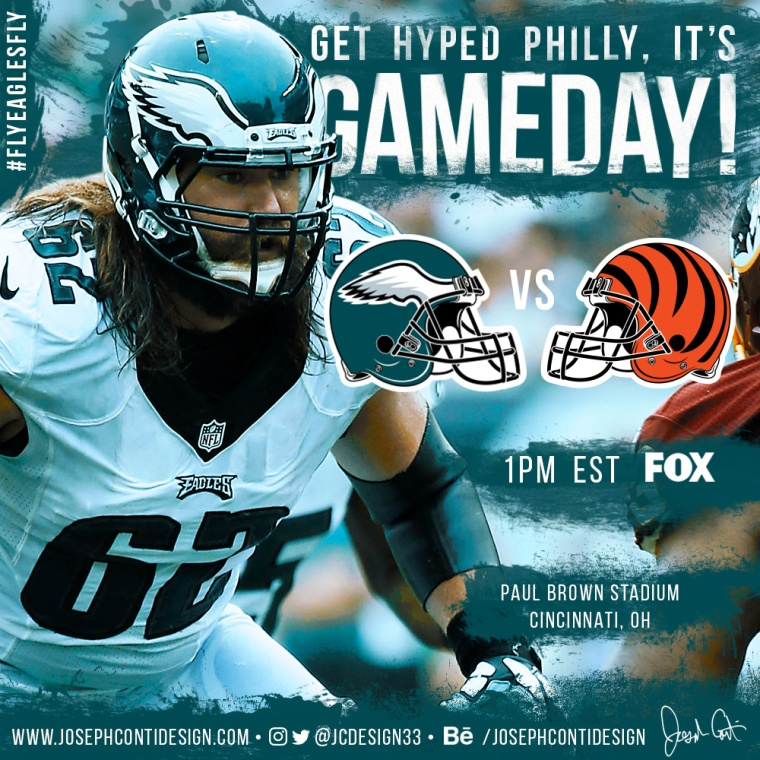 Philadelphia Eagles 2016 Gameday Graphic – Game 12 vs Bengals