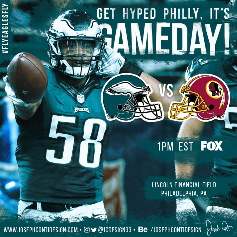 Philadelphia Eagles 2016 Gameday Graphic – Game 13 vs Redskins