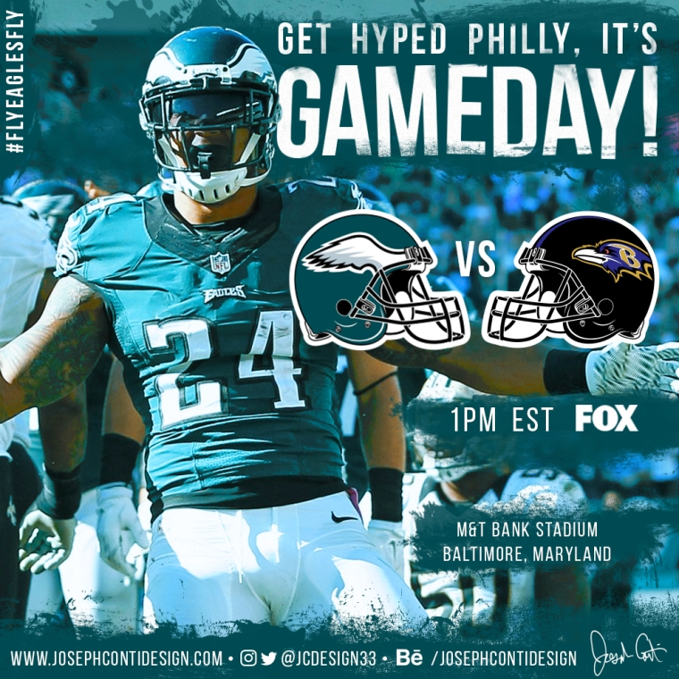 Philadelphia Eagles 2016 Gameday Graphic – Game 14 vs Ravens