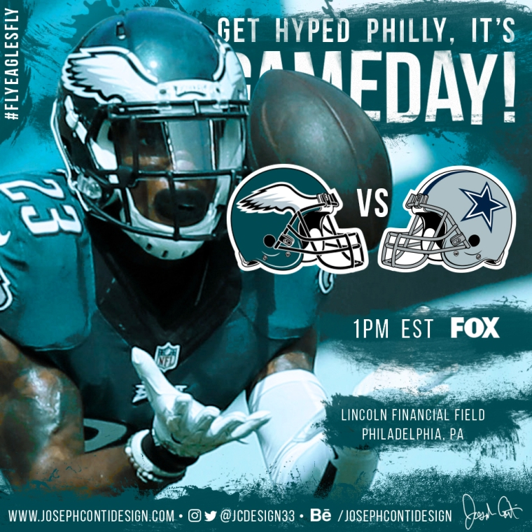 Philadelphia Eagles 2016 Gameday Graphic – Game 16 vs Cowboys