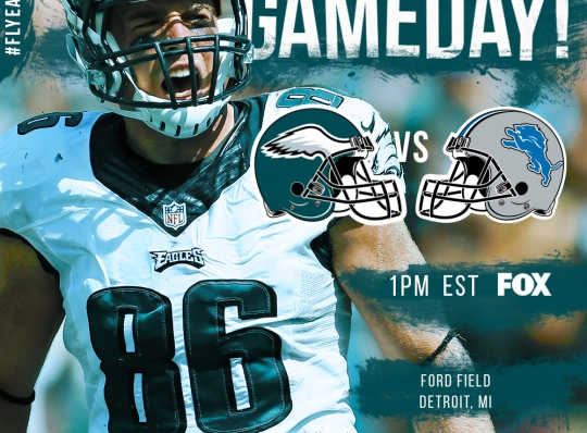 Philadelphia Eagles 2016 Gameday Graphic – Game 4 vs Lions