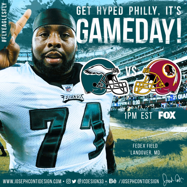 Philadelphia Eagles 2016 Gameday Graphic – Game 5 vs Redskins