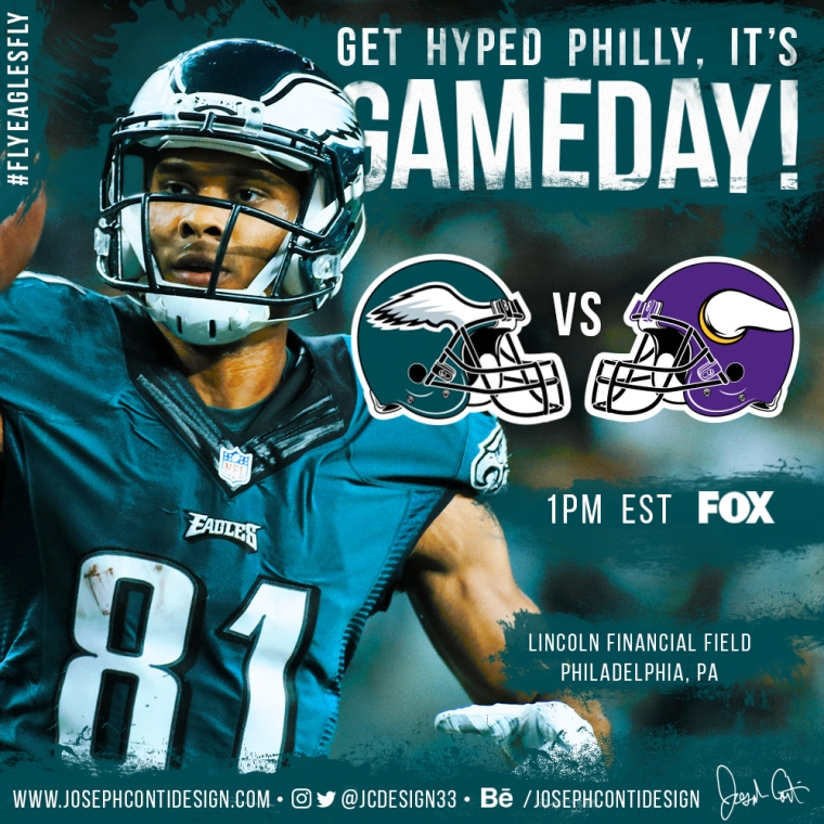 Philadelphia Eagles 2016 Gameday Graphic – Game 6 vs Vikings