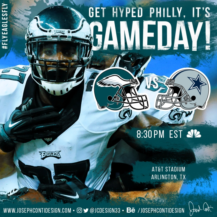 Philadelphia Eagles 2016 Gameday Graphic – Game 7 vs Cowboys