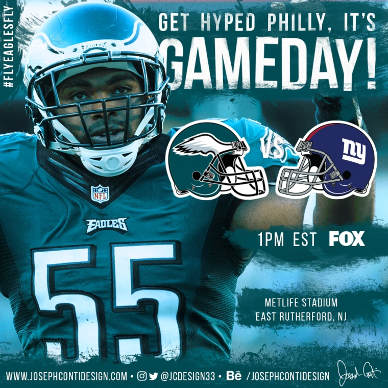 Philadelphia Eagles 2016 Gameday Graphic – Game 8 vs Giants