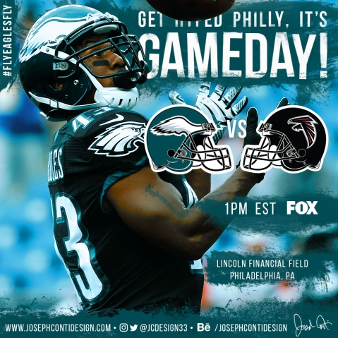 Philadelphia Eagles 2016 Gameday Graphic – Game 9 vs Falcons