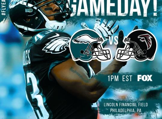 Philadelphia Eagles 2016 Gameday Graphic – Game 9 vs Falcons