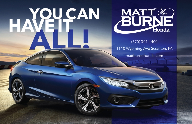 Matt Burne Honda Generic Half Page Print Ad Horizontal