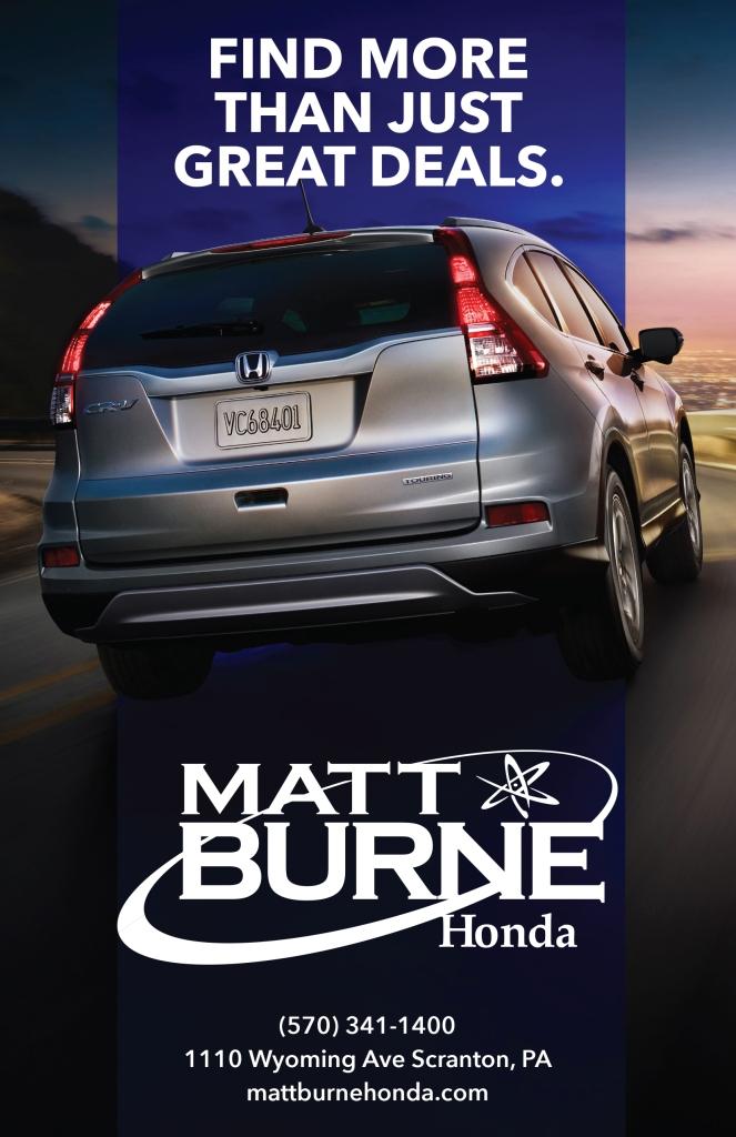 Matt Burne Honda Generic Half Page Print Ad Vertical