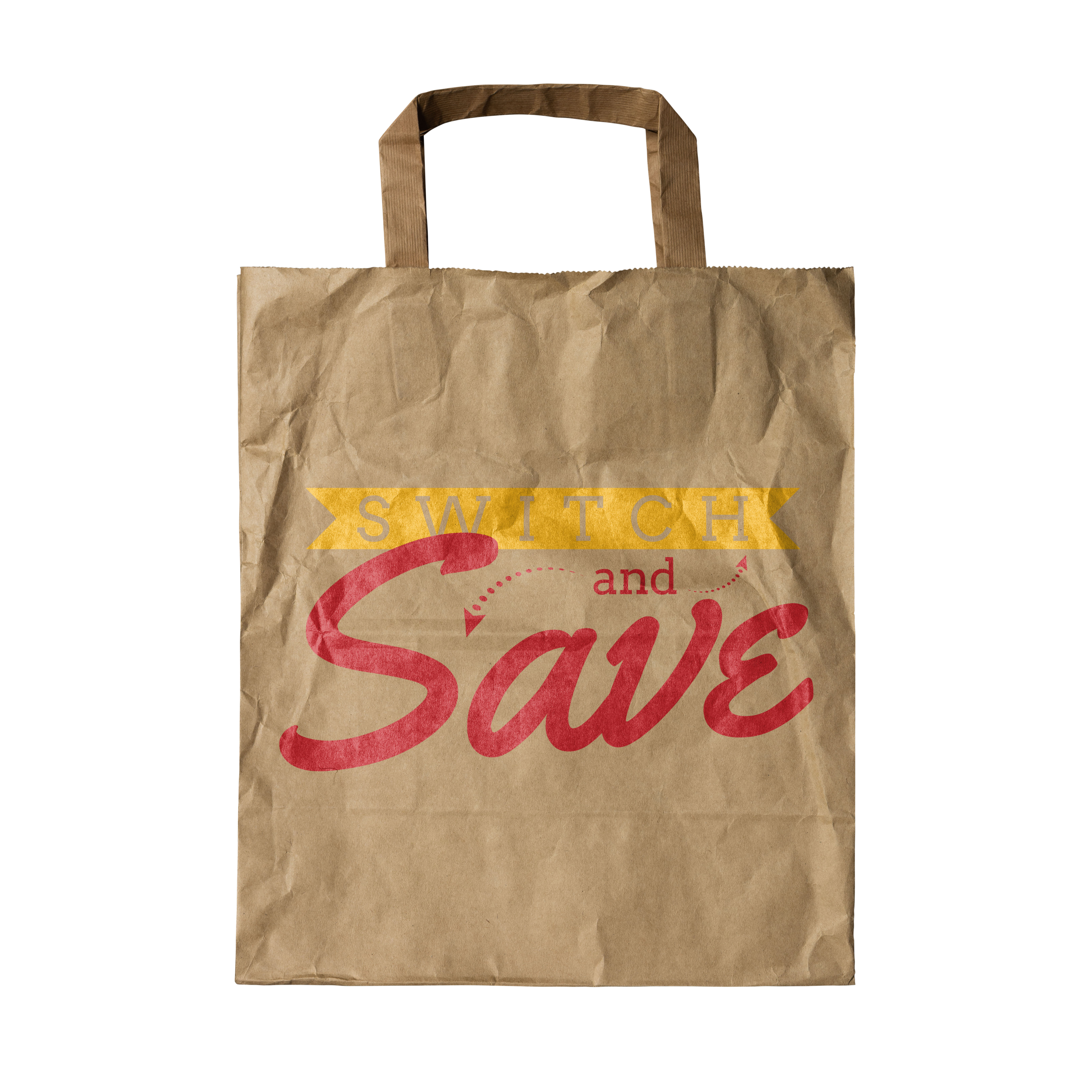 Switch and Save Logo Grocery Bag
