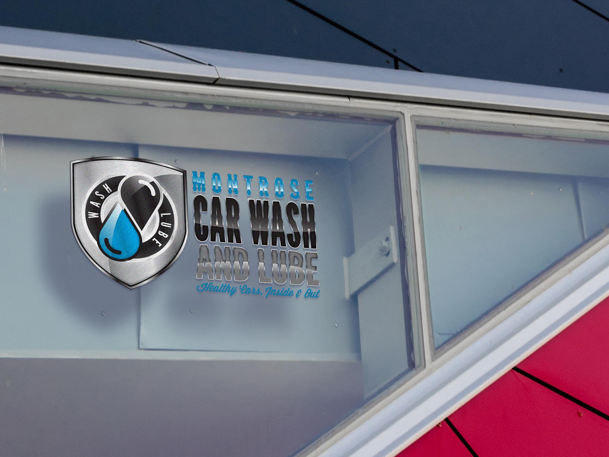 Montrose Car Wash Logo Window Print