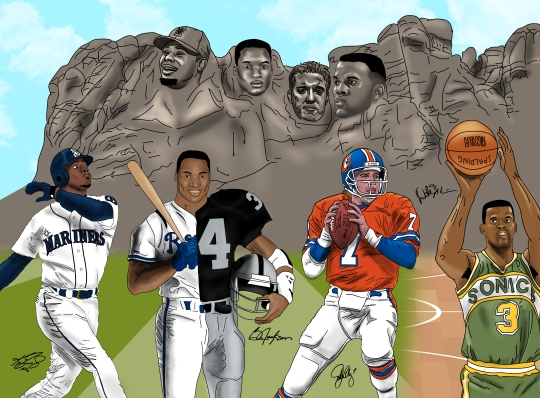"36 x 24 ""Mount Rushmore"" Illustration. Digital Illustration done with Adobe Photoshop, Adobe Illustrator and Wacom Bamboo Tablet"